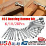 20PCS HSS Router Bit Set Wood Milling Cutter Fits Dremel Rotary Grinding Tool US