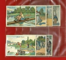 More details for victorian advertising - sports & pastimes - biscuits pernot advert cards (tg26)