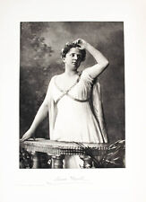 1902 música Krull Annie una cantante de ópera retrato heliogravüre