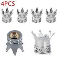 4PCS Universal Crown Alloy Car Wheel Tire Tyre Stems Air Valve Dust Caps Covers