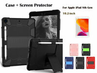 """For iPad 8th Gen 10.2"""" 2020 Shockproof Heavy Duty Hybrid Rubber Stand Cover"""