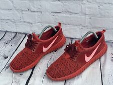 Nike Trainers Mens Size Uk 8 Red Running Gym Exercise Walking