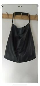 Coccinelle Soft Black leather Hobo handbag Shoulder Bag Large