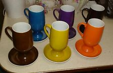 MCM Lagardo Tackett, Diablo, Schmid porcelain, 6 demitasse espresso cup/saucers