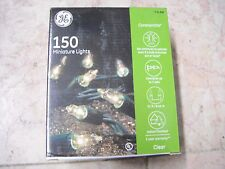 New ! 150PK GE Miniature Lights ConstantON Clear Lights Green Wire 31 FT Length