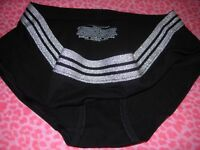 Victoria's Secret VS Hiphugger Panties Underwear Panty Sparkle Black XS S M L XL