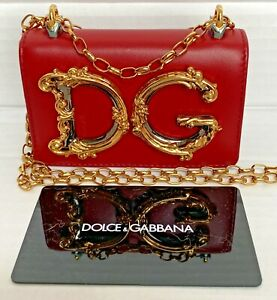Dolce & Gabbana DG Red Borse Leather MICRO Crossbody COIN Bag