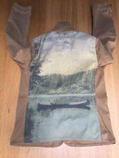 Ralph Lauren Womens M 40in Brown Canvas Field Jacket River Canoe Hunting VGC
