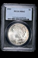 1922 $1 Peace Silver Dollar PCGS MS62 99c NO RESERVE  Witter Coin