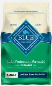Blue Buffalo Life Protection Formula Natural Adult Dry Dog Food, Lamb and Brown