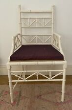 More details for beautiful faux bamboo armchair with seat cushion.