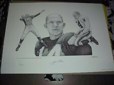 Y.A. TITTLE AUTOGRAPHED , AUTO , LITHOGRAPH BY PERKINS  #408 OF 1400 MADE! 100%