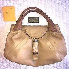 FENDI Nappa Leather Honey Color Spy Bag Authenitc