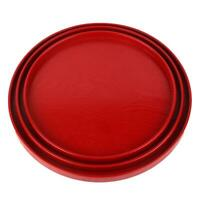 Round Shape Serving Tray Plate for Tea Water Coffee Fruit Juice Food Snack Red