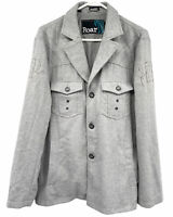 Roar Siberian Blazer  Button Front Jacket  Size Small Gray Herringbone