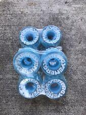 Radar Energy 57 Aqua Roller Skate Wheels (8 Pack/ Full Set)