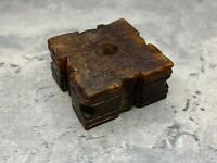 """Antique Artisan made Chinese jade amulet It's name's """"YU ZONG"""" Very rare!"""