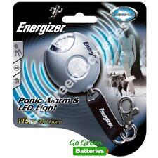 Energizer LED Light & Panic Alarm Keyring Torch Light 115 Decibel Keychain Fob