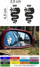kit 2 adesivi alfa romeo specchio specchietto stickers 156 147 159 mito COD167