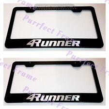 2X Toyota 4RUNNER Black Stainless Steel License Plate Frame Rust Free W/ Caps