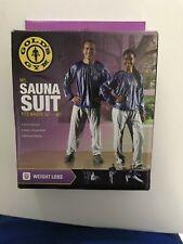 Golds Gym Sauna Suit, size M/L, Fits Waist Size 30-38, Weight Loss Suit NEW