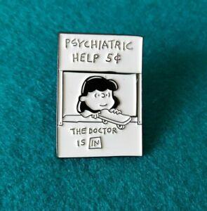 Lucy van Pelt, Lucie Snoopy, Snoopy Dog Enamel Pin Brooch Mental Health Badge