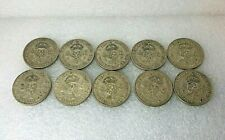 More details for 1937-46 two shilling florin 10 coin date run 50% silver king george vi