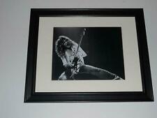 "Eddie Van Halen 1978 Van Halen 1st Tour with Guitar Framed Guitar God 14""x17"""