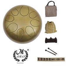 "10"" Steel Tongue Drum/Handpan Drum With 8pcs Pentatonic Musical Note + Bag S2D5"
