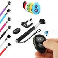 Monopod Selfie Stick Telescopic + Bluetooth Wireless Remote Mobile Phone holder