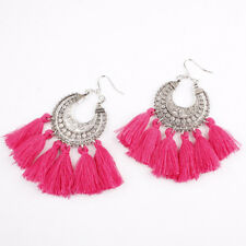 1Pair Women Fashion Long Tassel Drop Dangle Earring Bohemia Fringe Earrings Gift
