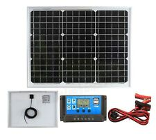 30w Mono Solar Panel Battery Charging Kit Charger Controller Boat Caravan HomeK1