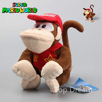 Super Mario Bros Lovely Diddy Kong Donkey Kong Plush Doll Soft Toy Figure 6''