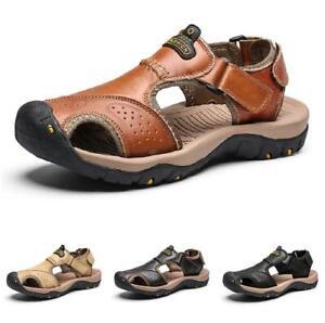Roman Men Beach Slingbacks Sandals Shoes Closed Toe Sports Walking Non-slip 47 D