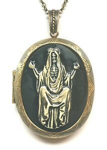The Holy Heart of Santa Muerte Cameo Necklace US SELLER FAST SHIPPING !