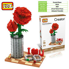 I love U Rose rings Valentine Romantic propose gift LOZ iBLOCK  Nano xmas