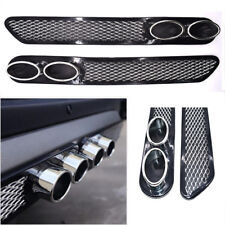 New 2X ABS Car Simulation Grid Double Cylinder Exhaust Pipe Tube Accessories