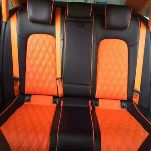 Orange 4.8cm Auto Racing Car Harness 3 Point Front Safety Retractable Seat Belt*