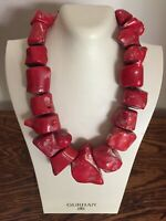 Vintage Chunky Coral Statement Necklace 10 OZ
