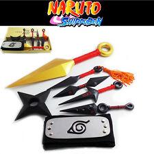 Naruto Namikaze Minato Yondaime Cosplay shuriken Kunai Knives headband weapon 2