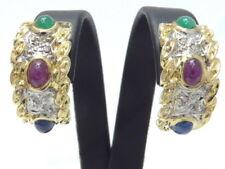 Ohrringe earrings 585 GOLD Brillanten Diamanten Rubin Saphir Smaragd 14 Karat or