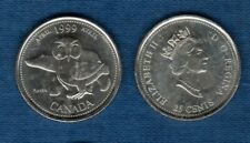 Canada Millennium 25 Cents Avril 1999 Our Nothern Heritage Ours Polaire Hibou Ap