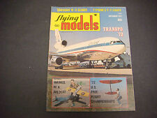 Flying Models Magazine,Radio Controlled,Sept 1972, Quasoar,Typond,R/C Boats,Cars