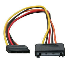 "12"" Serial ATA Power Extension Cable SATA 15 pin to 15 pin PC Computer SSD/HDD"