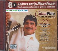 Celso Pina y su Ronda de Bogota 22 Grandes Exitos 80 Aniversario Peerless CD