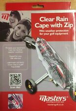 Masters Golf Clear Rain Cape With Zip RRP £15