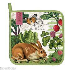 Michel Design Works Cotton Kitchen Potholder Garden Bunny - NEW