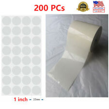 1 Clear Round Envelope Package Wafer Seals Mailing Labels Stickers Adhesive