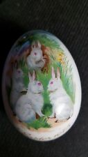 Royal Bayreuth German Bone China Collectible 1975 Easter Egg Bunnies