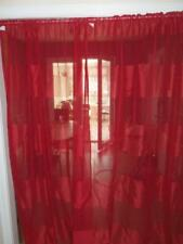 """25/6 SALE GORGEOUS PAIR OF BURGUNDY 100% POLYESTER NET CURTAINS 54"""" X 90"""""""